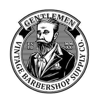Logo emblème barbershop vintage