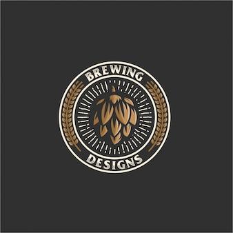 Logo emblème de brassage