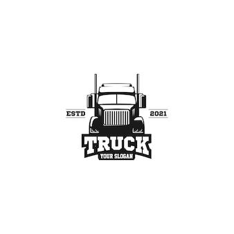 Logo d'emblème de camion