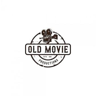 Logo emblème de cinéaste vintage