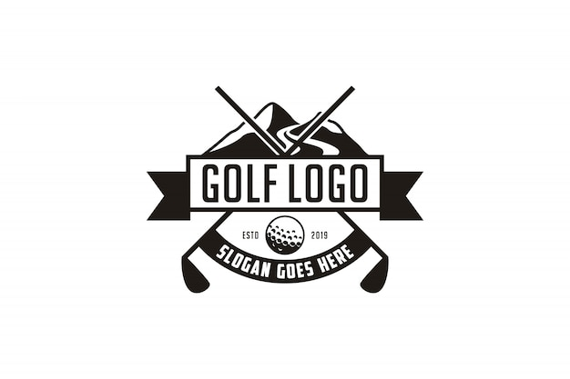 Logo de l'emblème de golf vintage