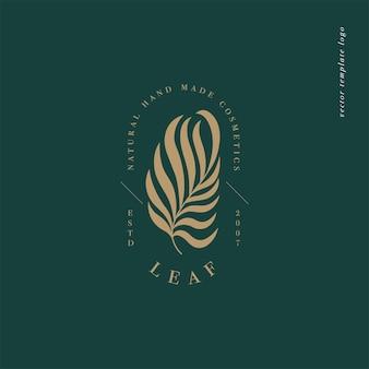 Logo ou emblème de modèle linéaire de conception vectorielle - style boho mystère. symbole abstrait pour la boutique spirituelle et d'astrologie.
