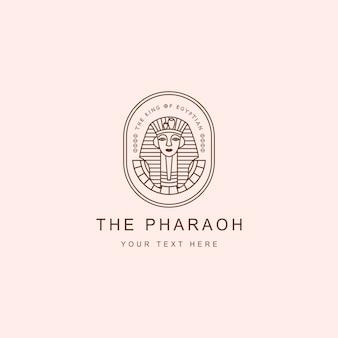 Logo emblème pharaon