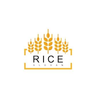 Logo emblème riz