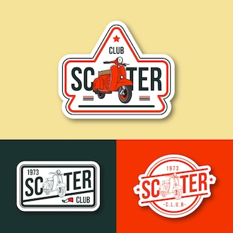 Logo emblème de scooter
