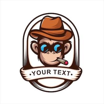 Logo emblème de singe
