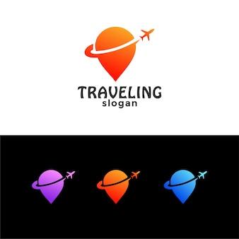 Logo d'emplacement de destination de voyage