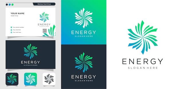 Logo d'énergie abstraite avec un design créatif moderne vecteur premium