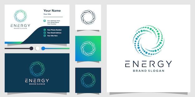 Logo de l'énergie avec un concept créatif moderne vecteur premium