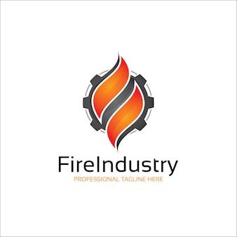 Logo d'énergie de flamme de feu moderne