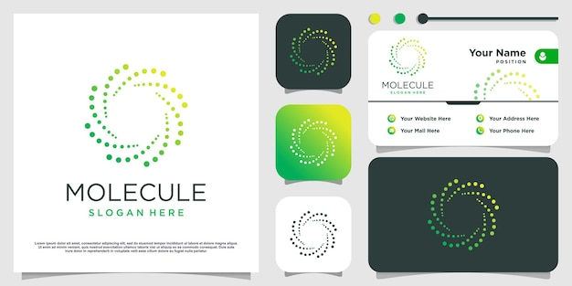Logo d'énergie verte avec concept créatif vecteur premium