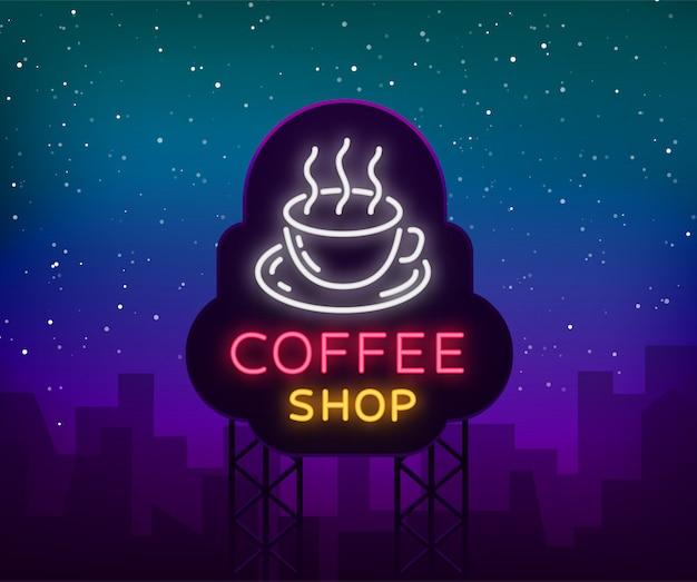 Logo de l'enseigne au néon café