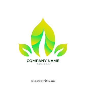 Logo d'entreprise abstrait arrondi dégradé