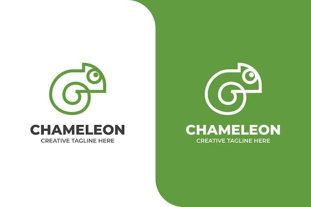 Logo d'entreprise animal caméléon simple
