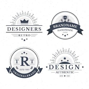 Logo d'entreprise élégant et rétro