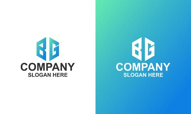 Logo d'entreprise hexagonal premium
