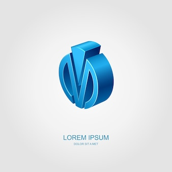 Logo d'entreprise, idée de logo d'entreprise stylisée abstraite,