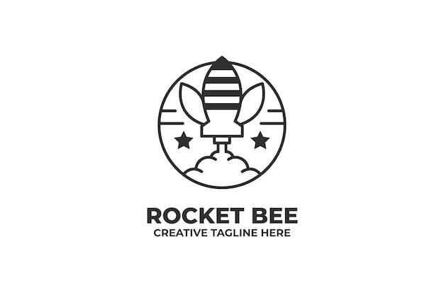 Logo d'entreprise de lancement de fusée bee