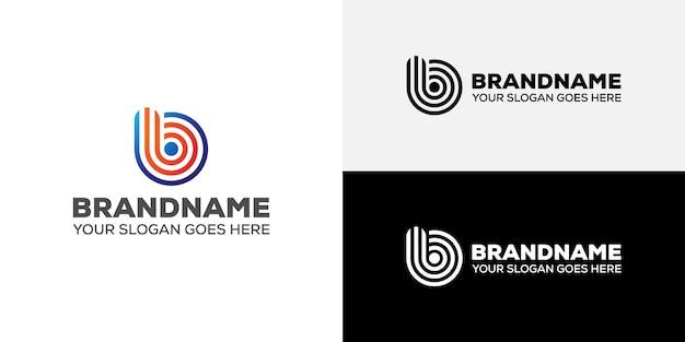 Logo d'entreprise en ligne lettre b