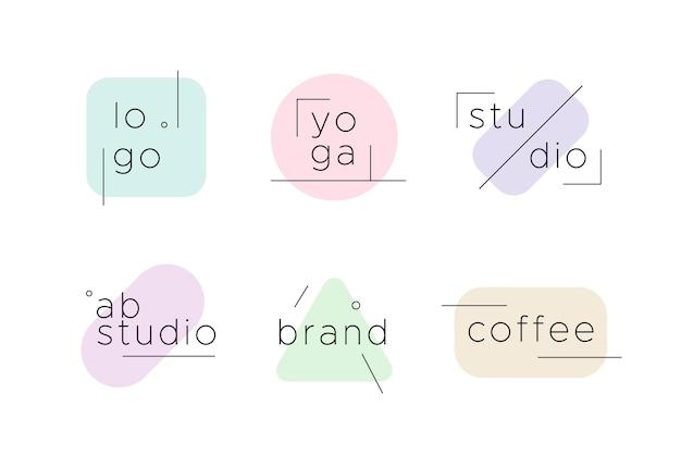 Logo d'entreprise minimaliste aux couleurs pastel