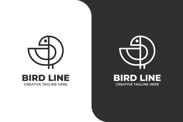 Logo d'entreprise monoline d'oiseau