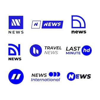 Logo d'entreprise de nouvelles bleues et blanches