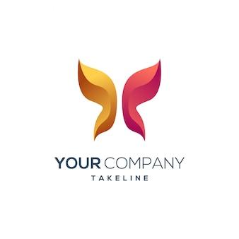Logo d'entreprise papillon