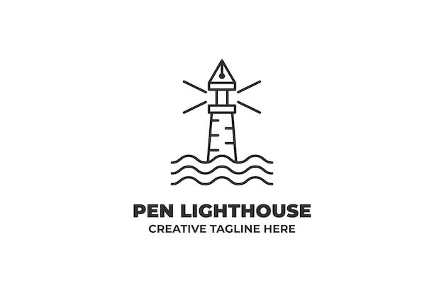 Logo d'entreprise phare monoline