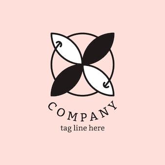 Logo d'entreprise sur rose