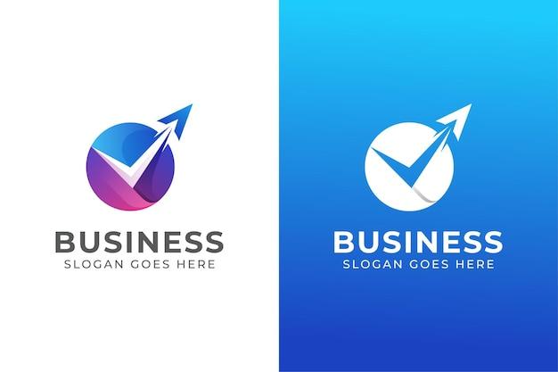 Logo d'entreprise de vérification de voyage agence de couleur moderne. transport, logo de livraison logistique avec deux versions