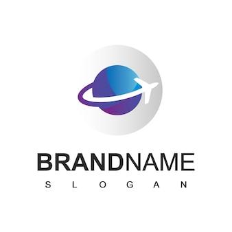 Logo d'entreprise de voyages et de voyages