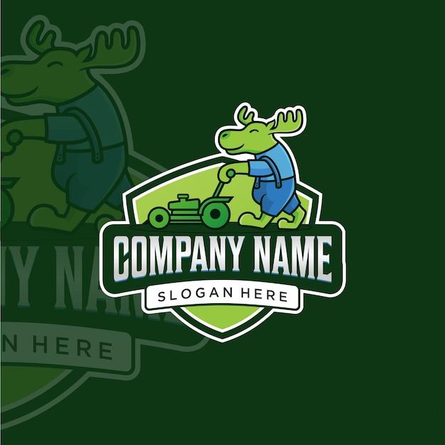 Logo d'entretien des pelouses