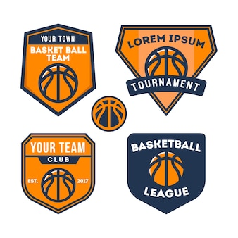 Logo de l'équipe de basketball et badge