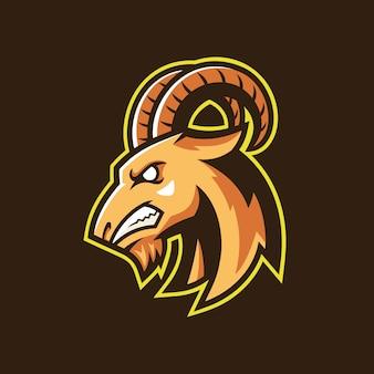 Logo de l'équipe de sport tête de chèvre
