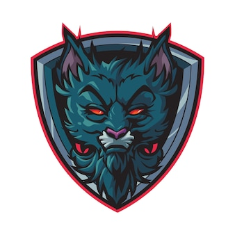 Logo esport chat noir sauvage