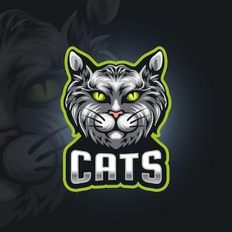 Logo d'esport de chats
