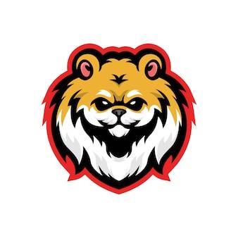 Logo esport chien poméranien
