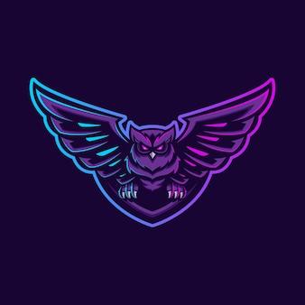 Logo esport chouette