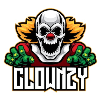 Logo d'esport de clown de crâne