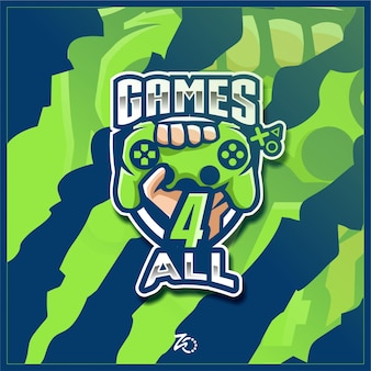 Logo esport console pro gaming