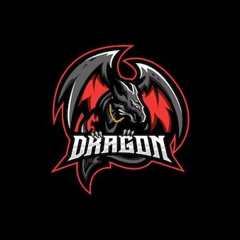 Logo d'esport de dragon