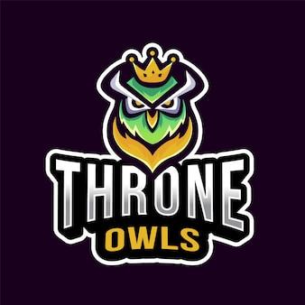 Logo esport du hibou du trône