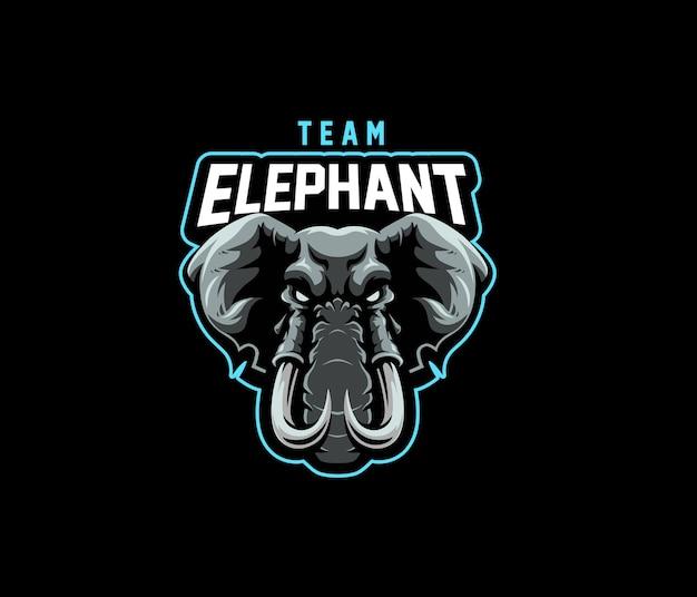 Logo d'esport de l'équipe d'éléphant