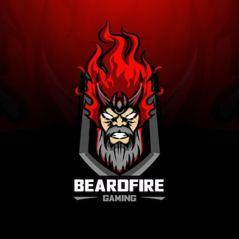 Logo esport fire barbe