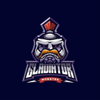 Logo esport gladiateur