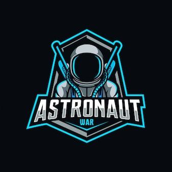 Logo esport guerre astronaute