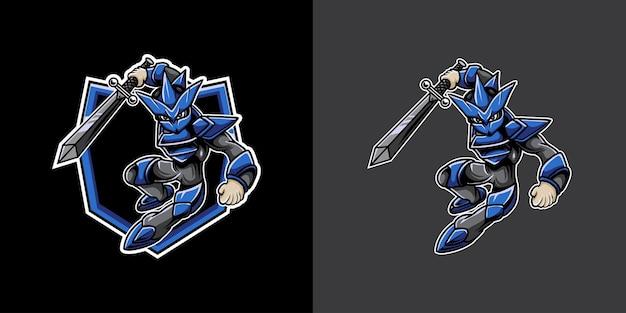 Logo esport avec guerrier cyborg