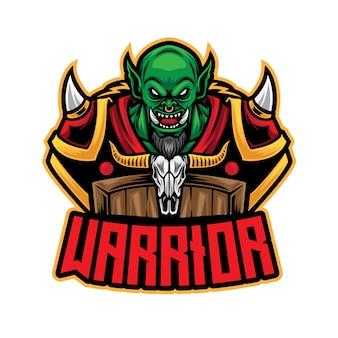 Logo d'esport de guerrier orc