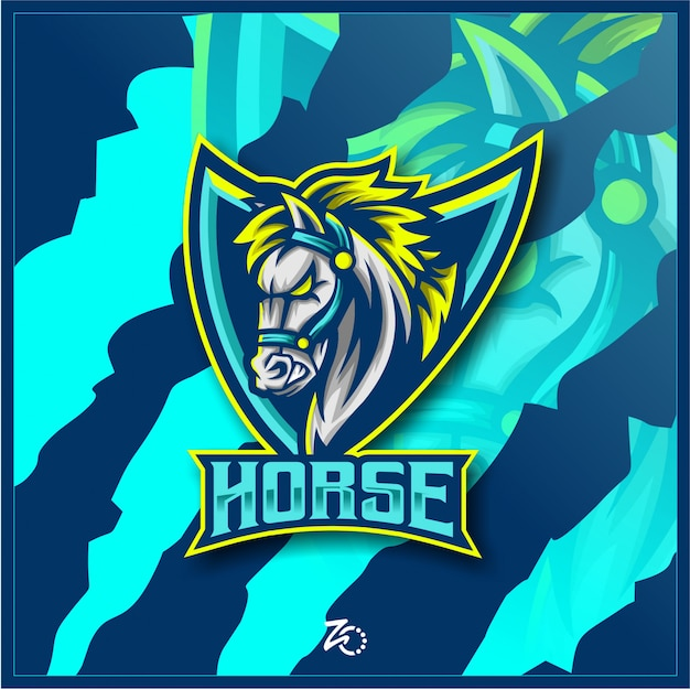 Logo d'esport de jeu de cheval