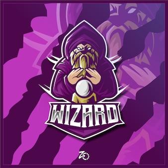 Logo esport de jeu lion wizard